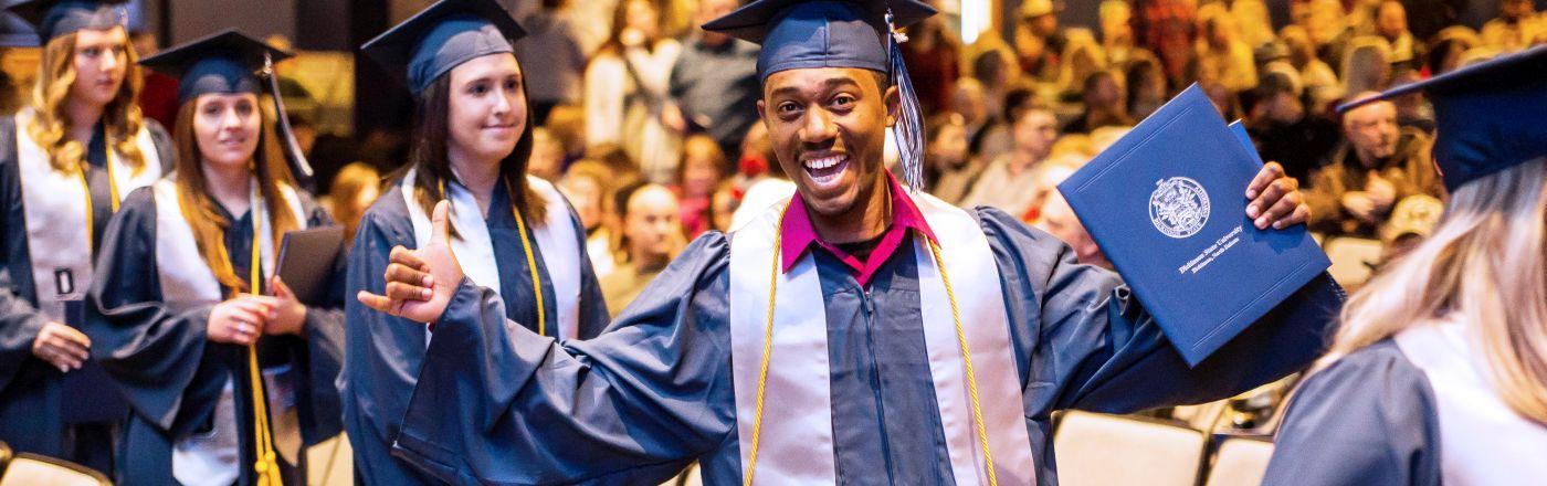 DSU Graduation Smiling Graduate